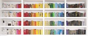 """Bookshelf spectrum 2.0 - mission accomplished!"" by flickr user Pietro Bellini"