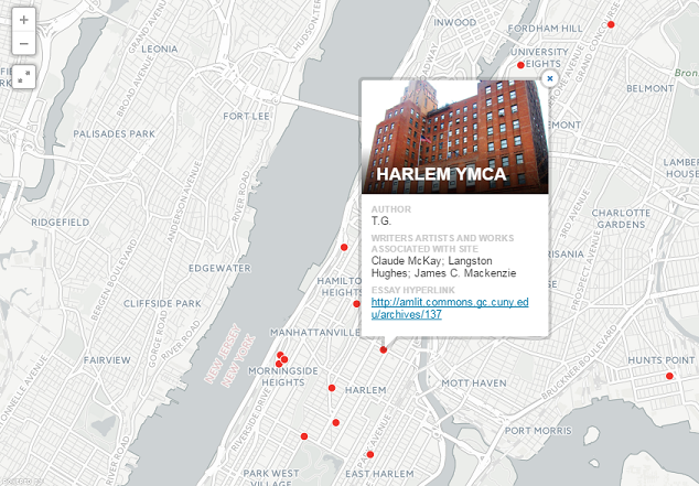 Mapping New York Literary History screenshot